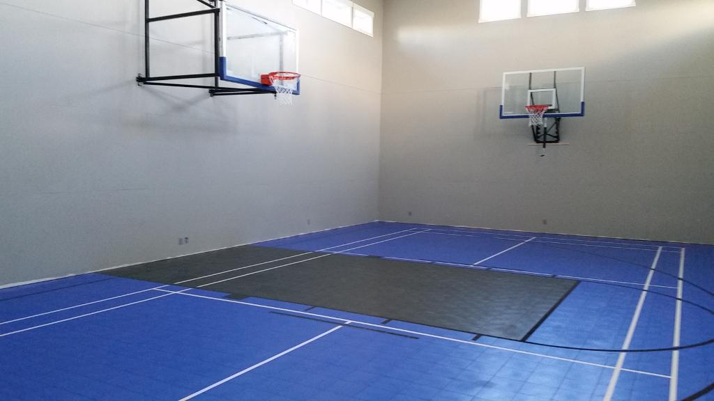 Sport court calgary garage floors basement floors for Basketball hoop inside garage