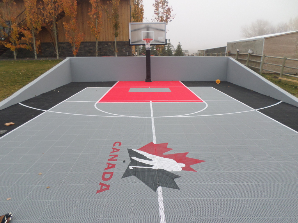 Sport court calgary alberta home courts backyard game for Diy sport court