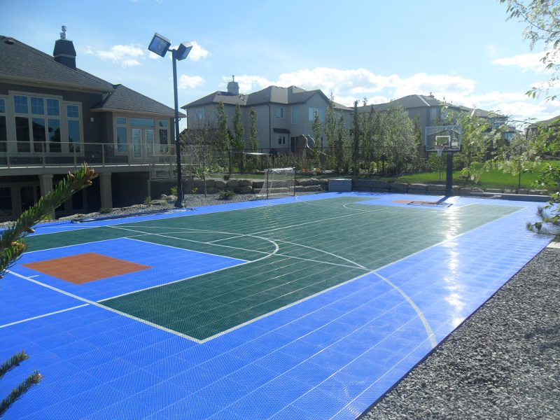 Sport court game courts home court sports courts for Backyard sport court