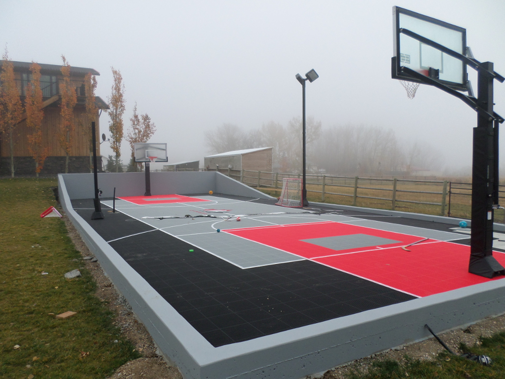 Outdoor sport tiles athletic surface basketball court Sport court pricing