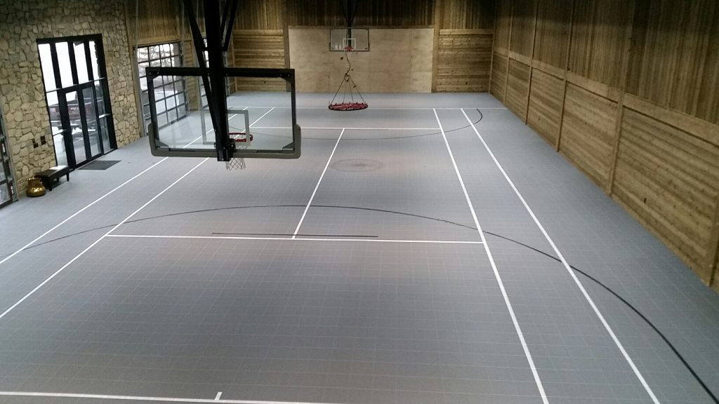 Sport court tennis courts for Indoor basketball court flooring cost