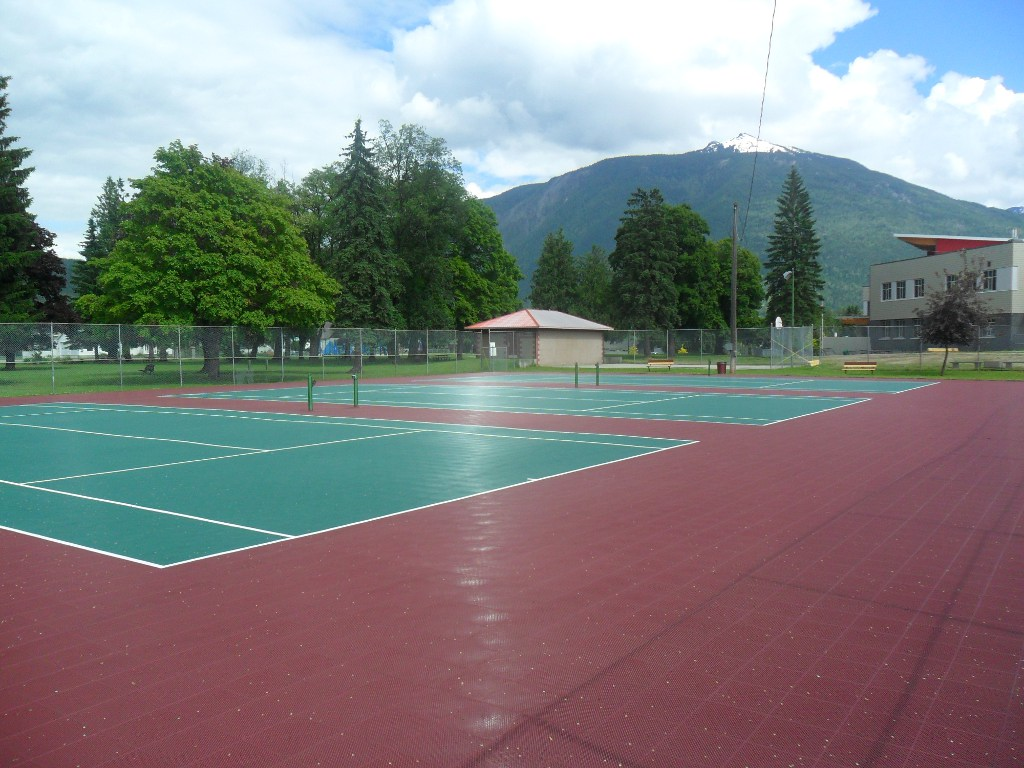 City of Revelstoke, BC - 3 full size Sport Court tennis courts