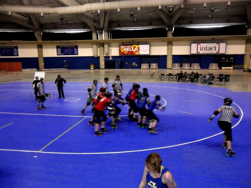 Sport court indoor gym floors inline hockey floors response tiles roller derby flat track fever calgary olympic oval dailygadgetfo Gallery