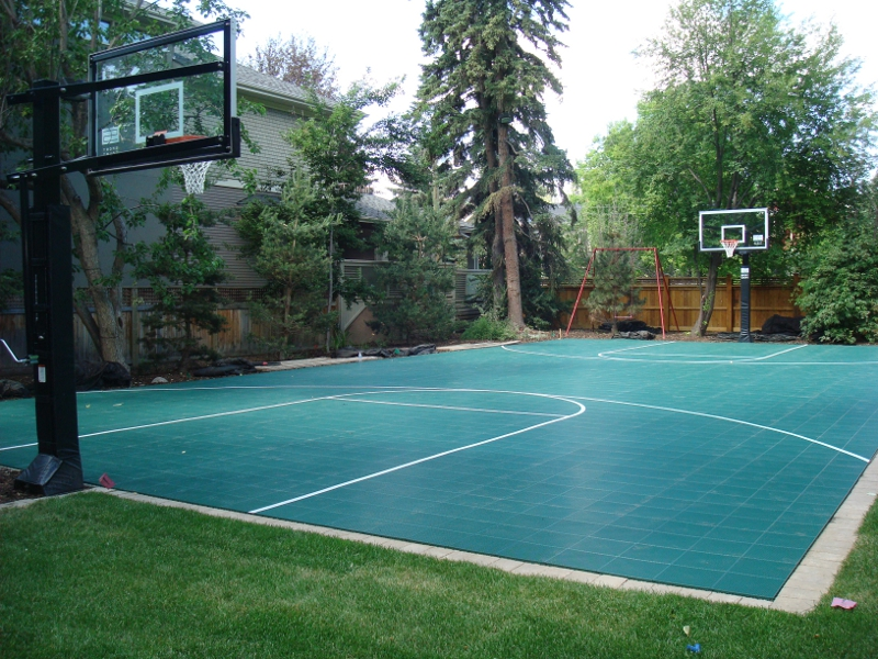 Sport court game courts home court sports courts for Basketball court at home