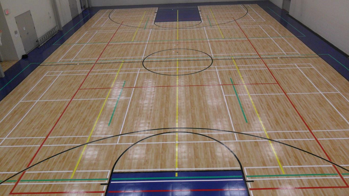 Sport court calgary maple and high gloss floor tiles